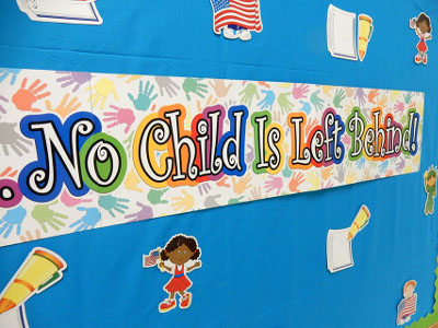 Image, No child is left behind! letter collage, Studer Community Institute